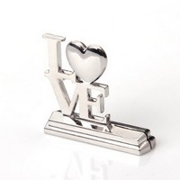 12pcs Love Romantic Place Card Holder Seat Folder Rustic Photo Holder Wedding Place Card Table Number