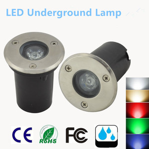 1PCS New IP67 Waterproof 1W 3W 5W AC 85-265V Outdoor First Garden Way Floor Underground Buried Lamps Yard Landscapebulb Light(China)