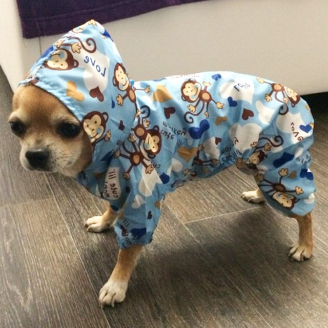 Pet Dog Clothes Puppy Rain Coat Jacket for Small Dog Waterproof Hooded Outfit Summer Raincoat Chihuahua Yorkie Clothes 2