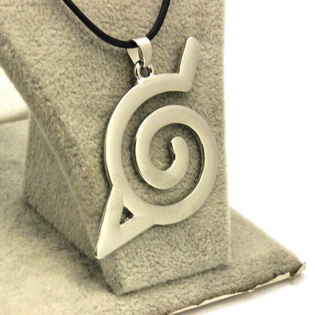 Naruto Konoha Sign Pendant Necklace