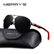 MERRY'S Fashion Brand Sunglasses Men HD Polarized Driving Mens Sun glasses Design High quality With Original Case S8404