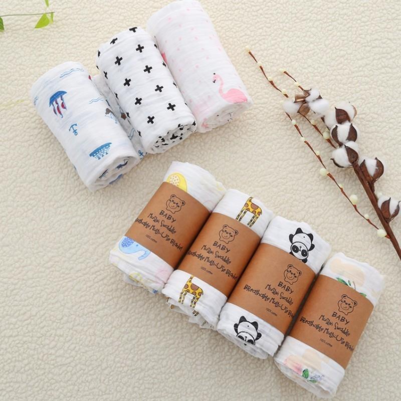 Summer Muslin Cotton Baby Swaddles Newborn Blankets Bath Towel Gauze Infant Wrap Stroller SleepSack For Newborns Swaddle Blanket