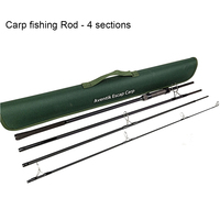 Travel Fishing Rod Aventik Escape 24T Carbon Travel Carp Rod 4 pieces 9FT 3.0Ib Fast And Powerful Carp Fishing Rod