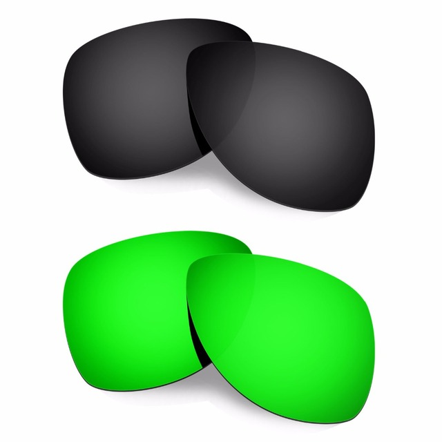 HKUCO Mens Replacement Lenses For Oakley Trillbe X Blue/Green Sunglasses WzKiR6R