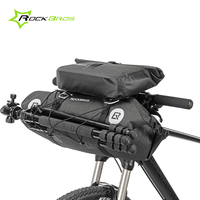 Rockbros Waterproof Bicycle Bike Front Frame Top Tube Bag Basket Large Capacity Handlebar Bag Cycling Pack Bicycle Accessories