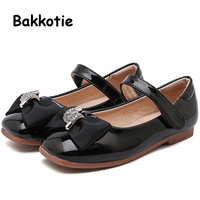 2019 Spring New Fashion Baby Girls Pu Leather Shoes Toddler Black Flats Children Brand Soft Shoes Kid Sweet Shoes Mary Jane Boy