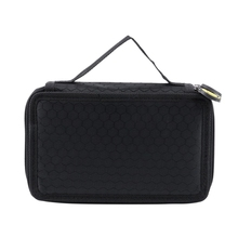 High Capacity Holder Stationary Pencil Case Pen Box Storage Bag New, 2 Layers Black