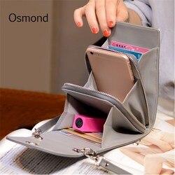 Осмонд Дизайн Для женщин Сумки корейский мини-сумка сумки сотовый телефон простой маленький Crossbody сумки Повседневное дамы щитка сумка Зеле...