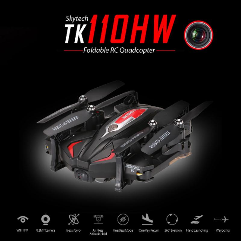2017 TK110HW FPV Mini Drone With Camera 0.3MP Wifi Foldable Selfile Drone RC Quadcopter Helicopter Aircraft Video RTF Dron feichao mini gw58 foldable selfile drone fpv 0 3mp 2 0mp hd camera pocket quadcopter remote and wifi control aircraft drone