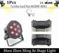 7x10W led Par lights RGBW 4in1 flat par led dmx512 disco lights professional stage dj equipment