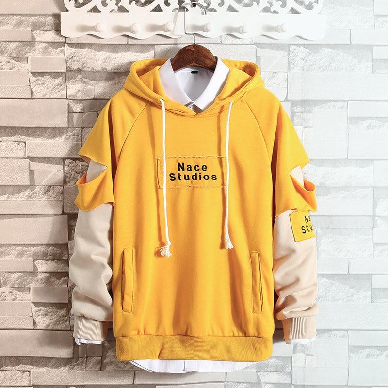 Spring Autumn Hoodies Men Nace Studios Letter Printed Hip Hop Hooded Sweatshirts Man Women Couple Alphabetic Hoody Top Quality