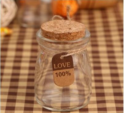 Wishing-Bottle Candy-Box Clear Wedding 100pcs/Lot Glass 100ML