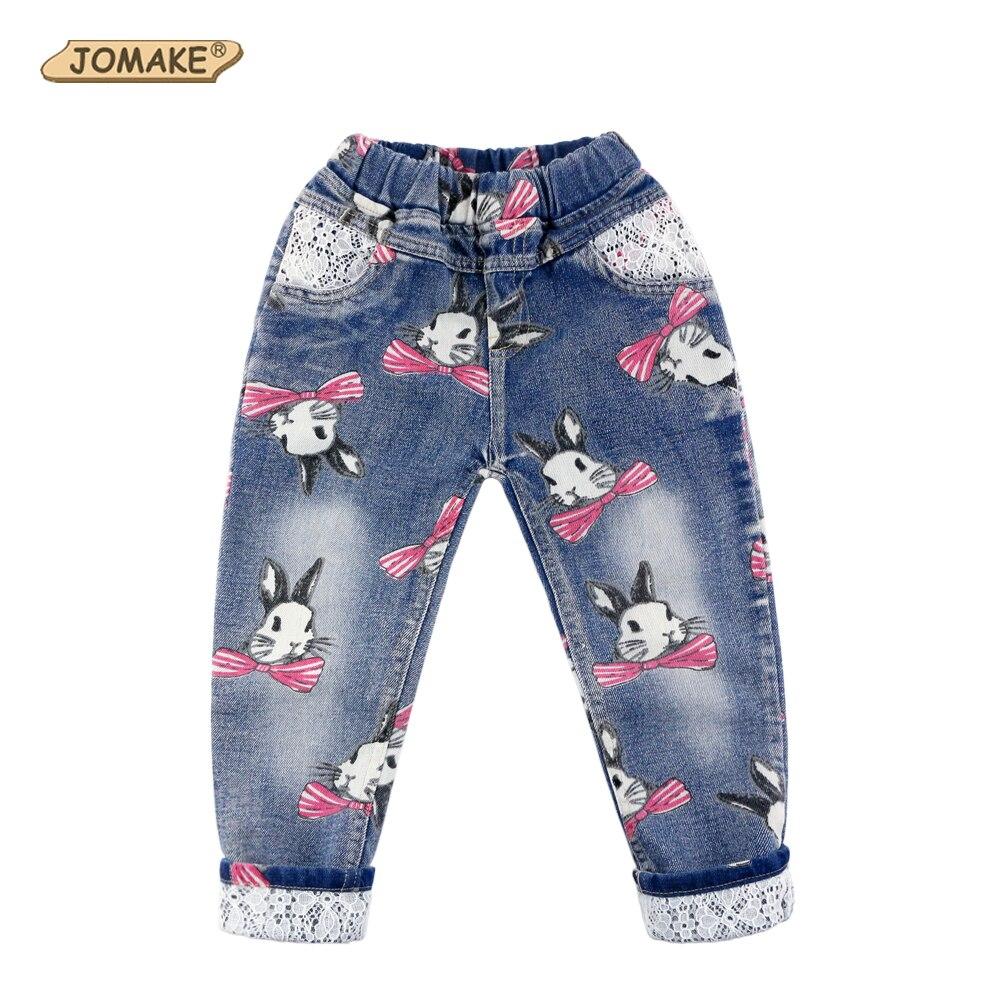 d5c866212f79 Conejo Niña Jeans Patchwork trajes para niños nueva marca 2019 de los niños  de primavera pantalones de mezclilla Casual ropa de bebé niña en Pantalones  ...
