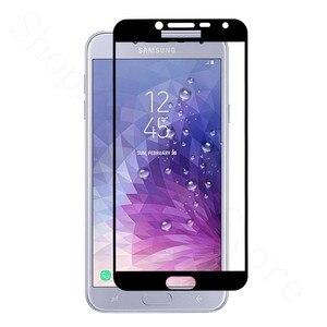 Image 4 - 2pcs עבור Samsung J4 2018 מגן זכוכית לסמסונג גלקסי J4 2018 j 4 4j J400F J400 מסך מגן סרט J42018 J4Plus גלאס