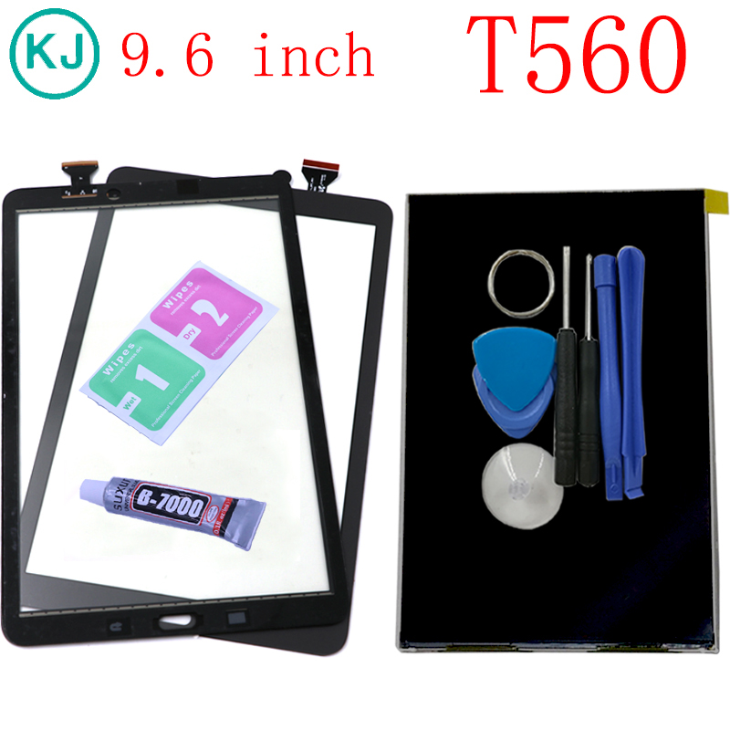 New T560 LCD Touch Panel For Samsung Galaxy Tab E 9.6 SM-T560 SM-T561 T561 Display Touch Screen LCD Digitizer Sensor Front Glass touch screen digitizer glass for samsung galaxy tab e 9 6 sm t560 t560 t561 free shipping 100% tested