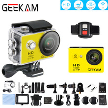 GEEKAM 1080P HD Wifi Action Camera Cam Deportiva 30m Waterproof house Remote Control 170 Ultra Wide Angle Fisheye Sport Camera