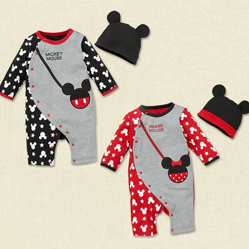 Retail Newborn Baby Boy Girl Clothes Cute Rompers 1PCS Baby Unisex Romper Infant Boys Girls Long Sleeve with Hat HB020