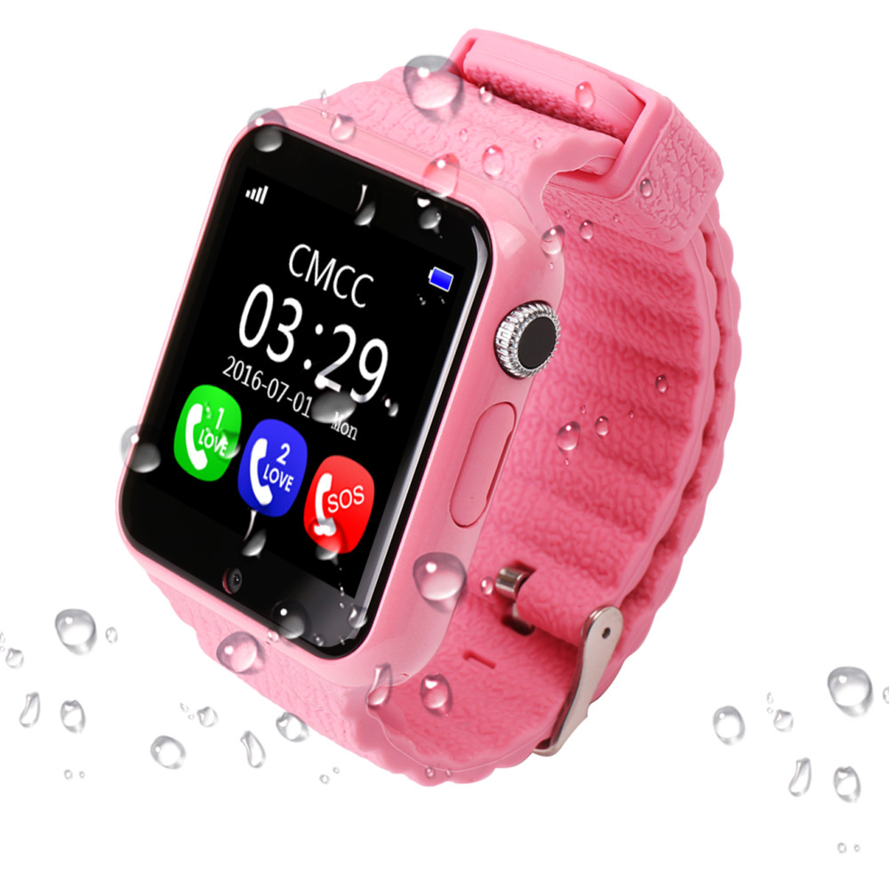 GPS Smart Watch Kids Watch V7k with Camera Facebook SOS Call Location Devicer Tracker for Kid Safe Anti-Lost Monitor PK Q90 Q80 1 54 screen children security gps smart watch with camera sos call location safe anti lost devicer tracker for ios and android