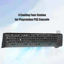 Двойной USB Hub 4 Охлаждающие вентиляторы для PS3 (40 г/80 г) консоль USB игровая станция охладитель для Playstation PS3 (40 г/80 г) консоли