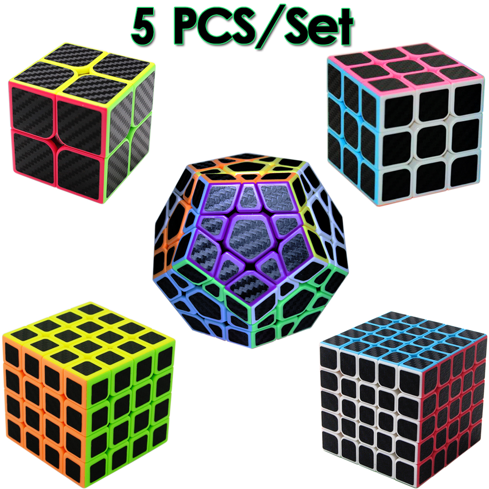 5 pcs/ensemble Vitesse ZCUBE'S Cube 3x3x3 2x2x2 4x4x4 5x5x5 Megaminx Magic Cube Professionnel pour Garçons Enfants 2*2 3*3 4*4 5*5