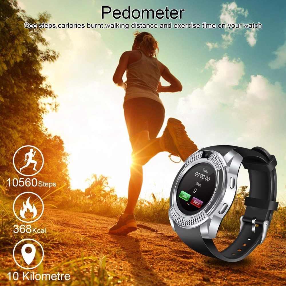 ساعة ذكية V8 SmartWatch بلوتوث تعمل باللمس ساعة معصم مع كاميرا/سيم فتحة  للبطاقات ، للماء ساعة ذكية DZ09 Y1 VS M2 A1
