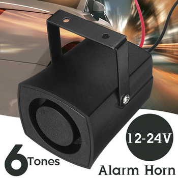 2019 New 6 Tones Automatically Adjusted Car Police Fire Alarm Buzzer Horn 12-24V Warning Loud Sound Truck Boat Siren dc 12v 200w 8 sound car truck loud speaker police fire horn pa siren horn system kit car alarm