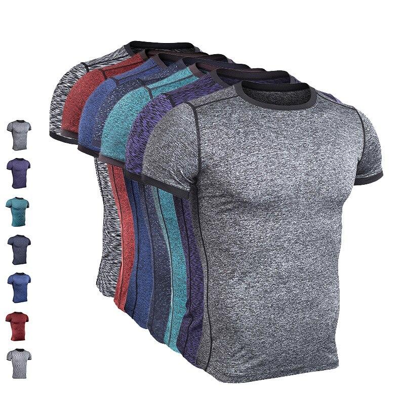 font b Men s b font Tight Running T Shirts Running Dri Fit Shirts Quickly