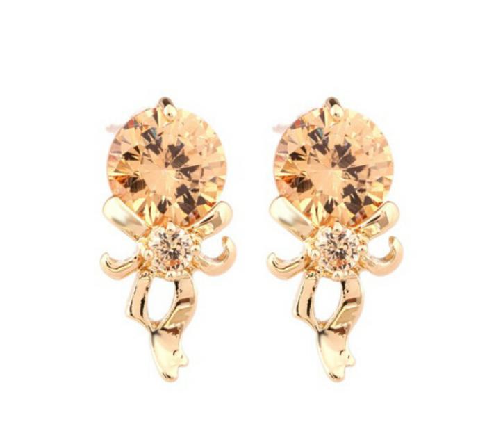 f2a89f85338a OMH al por mayor comprar 5 pair off20 % de plata blanco 18kt cristales  austríacos de oro blanco de la manera espejo mágico Pendientes de broche  eh123