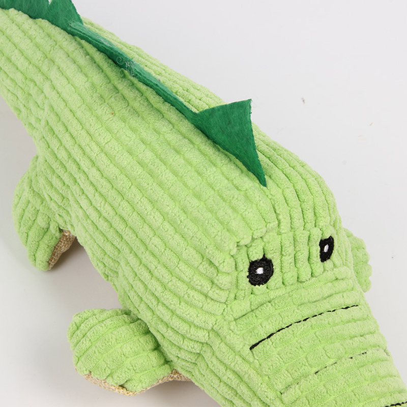 Image 5 - Crocodile Dog Toys Plush Soft Cat Chew Squeaker Pet Toy For Interactive Bite Sound Toys Chihuahua Puppy Toys-in Dog Toys from Home & Garden