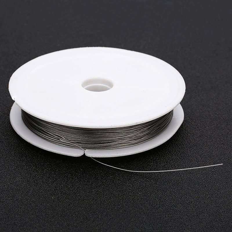 Handmade Beading Thread Steel Wire Crystals Pearls Jewelry DIY Accessories Making Bracelet Necklace 60M Length in Jewelry Findings Components from Jewelry Accessories