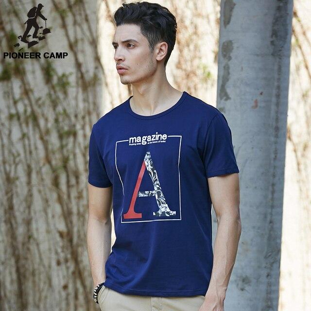 Pioneer Camp мужчины футболка brand clothing 2017 лето новая мода мужская футболка шорты носить хлопок свободные футболки печать мужчина