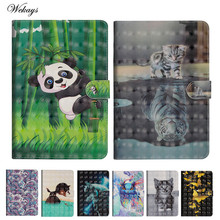 Wekays For Samsung Tab A6 10.1 T580 Cartoon 3D Leather Case For Samsung Galaxy Tab A6 A 6 2016 10.1 T585 T580 SM-T585 Cover Case цена и фото