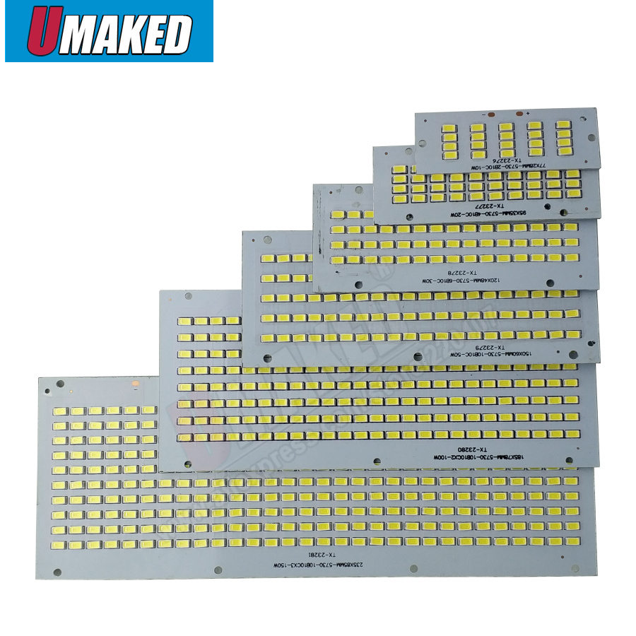 LED Floodlight PCB 10W 20W 30W 50W 100W 150W 200W SMD5730 Led Board, LED Lighting Source For Led Floodlight