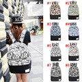 Fashion Printing Graffiti Patchwork Men Women Canvas Backpacks School Bags for Teenagers Girl Boy  AGD