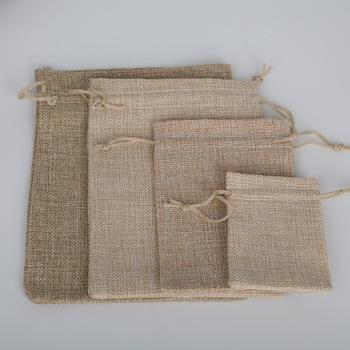 NiceBeads Natural 4 rozmiar Cotton Linen sakiewka na prezent torby dekoracyjne torby etui biżuteria i prezent i pakiet telefonu tanie i dobre opinie Velvet Pouch Bag PDA015 Opakowanie i wyświetlacz biżuterii Woreczki Tkaniny 7x9cm 10x14cm 13x18cm 15x20cm