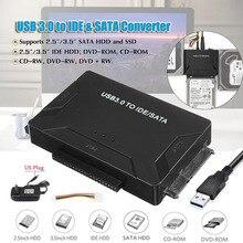 USB 3,0 для IDE SATA конвертер Внешний жесткий диск Adapter Kit 2,5 «/3,5» кабель Многофункциональный жесткий диск адаптер США Plug