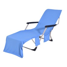 Chair Beach Towel Lounge Chair Beach Towel Cover Polyester Pool Lounge Chair Cover With Pockets Quick Drying 82.5'' X 28'' madrid lounge chair