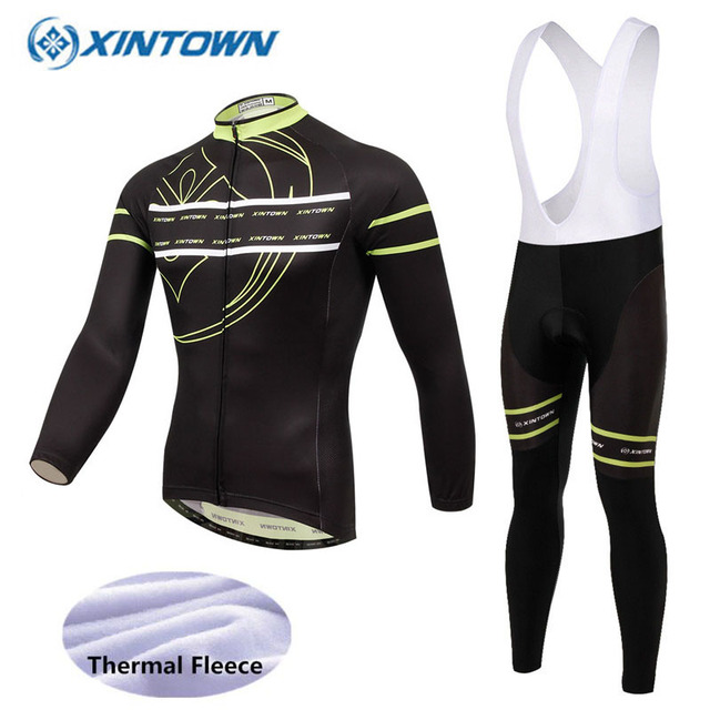 ff58c036c 2018 Thermal Fleece Cycling Set Winter Bicycle Clothing MTB Bike Clothes  Cycling Jersey Set Maillot Ropa Ciclismo Invierno