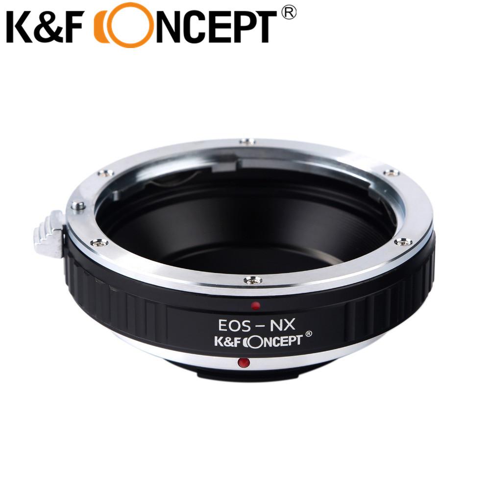 Prix pour K & f concept eos-nx caméra anneau adaptateur pour canon eos ef lentille sur samsung nx montage adaptateur nx5 nx10 nx100 nx200 NX300