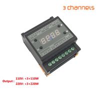 DMX302 DMX triac dimmer led brightness controller AC90 240V 50Hz/60Hz Output high voltage 3channels 1A/CH for led panel light