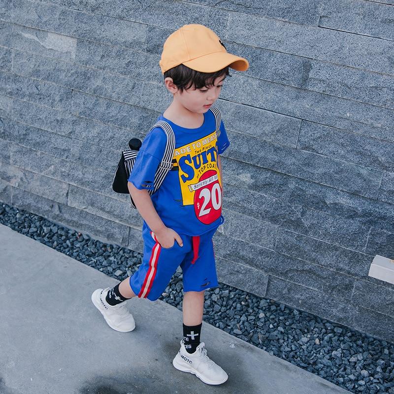 Daiyi Kids Cotton Clothes Sets Cartoon Fashion T-shirt+Pants 2PCS Suit Children Clothing For 24m-12t