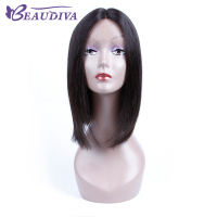 BEAUDIVA Pre Colored 1B Natural Color Straight Lace Front Human Hair Wigs 12 Human Hair Whole