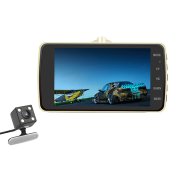 Ouchuangbo 4 inch LCD Car Rearvew DVR Mirror G-sensor Motion Detection loop recording full 1080P Video Recorder with camera