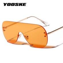 Yooske 2019 Kebesaran Kacamata Wanita Vintage Mewah Merek Desain Berjemur  Kacamata untuk Wanita Coklat Hitam Merah Oranye Kacama. a13da7ea82