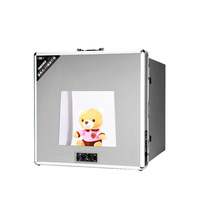 T3220 Portable Photo Studio Shooting Tent LED Light Diffusion Soft Box Kit with 6 Colors Backdrops for Camera Phone Photography