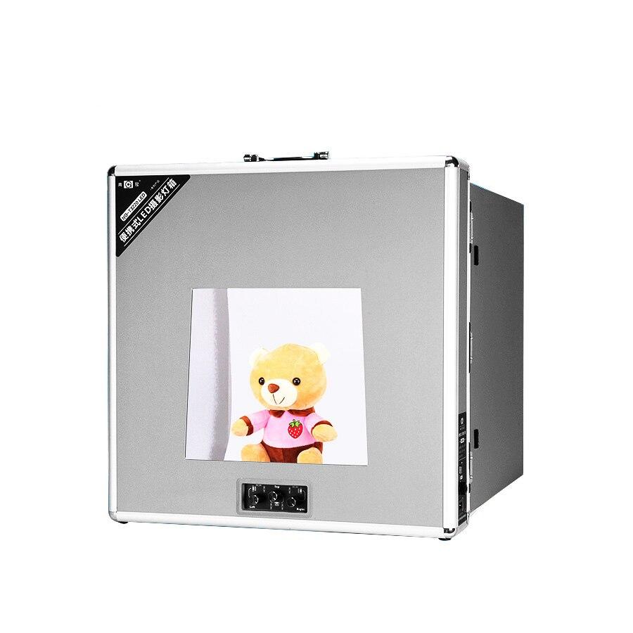 T3220 Portable Photo Studio Tente Tir LED Lumière Diffusion Soft Box Kit avec 6 Couleurs Décors pour Téléphone Appareil Photo Photographie