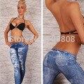 Venta caliente 2015New Moda Mujeres Polainas de Las Señoras los Pantalones Súper elásticas de Agujero Impreso Leggins Encanto Estilo Leggings pantalones de las mujeres