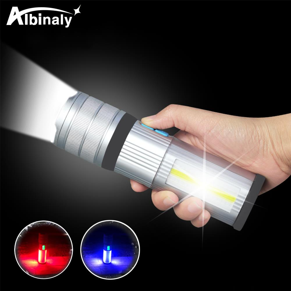 High End Led Flashlight Cob Camping Light Mobile Power Double Side Light Rechargeable Super Bright Torch Tail With Magnet