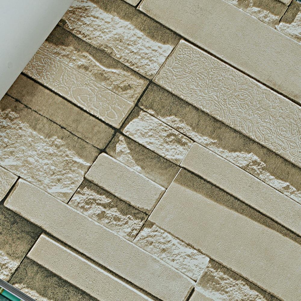 Stone wall paper 3d brick wall wallpaper vinyl for 3d waterproof wallpaper