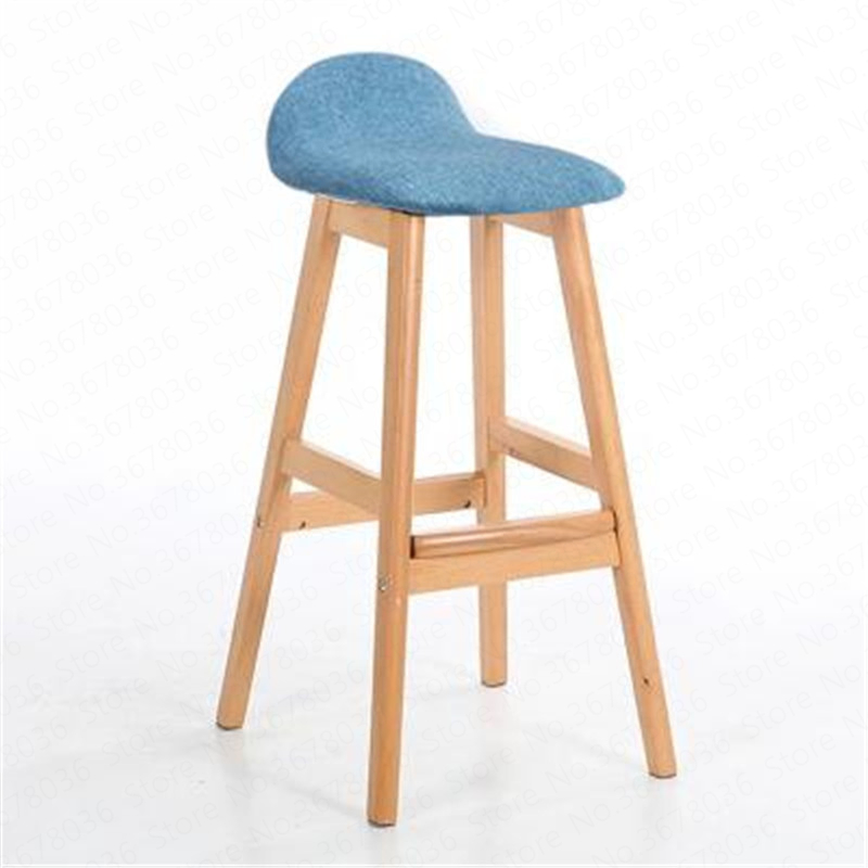Modern Design Bar Chair Solid Wooden Bar Chair Northern Wind Fashion Creative Kitchen Room Nordic Counter Stool